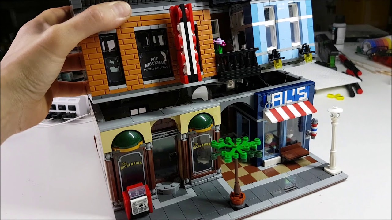 Lego 10246 Detektivburo Mit Beleuchtung Youtube