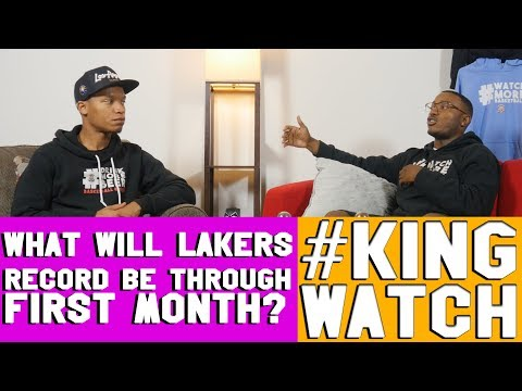 What Will Lakers First Month Record Be? | #KIngWatch | Hoops N Brews