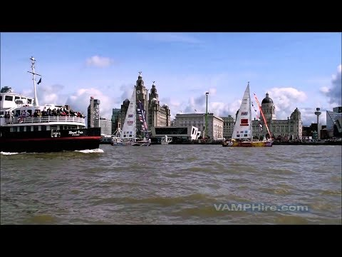 On water footage - Clipper Race 2017/18 - River Mersey (Liverpool UK)