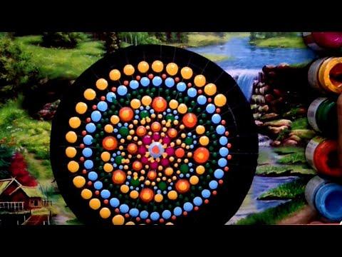 Basic dot mandala painting for beginners - videosacademy com