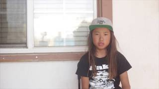Guy Tokuda 9 year old surf skater from Shonan, Japan visits Califor...