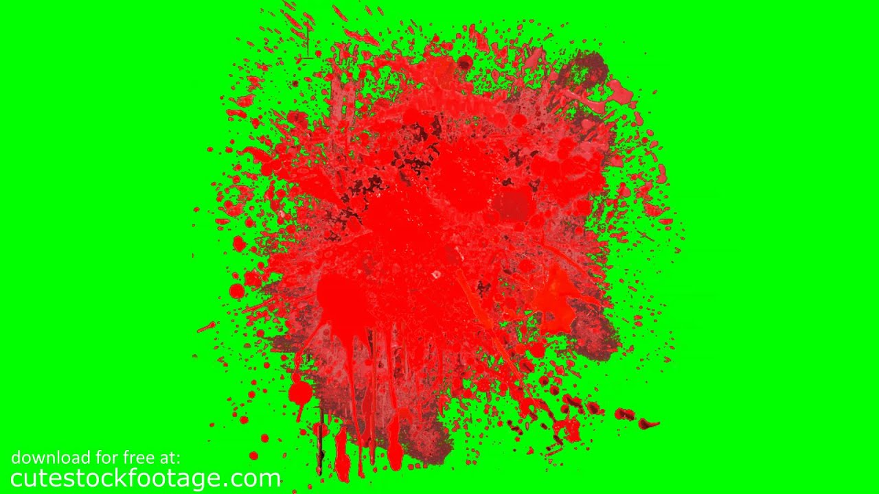blood splatter 7 - HD chroma key footage