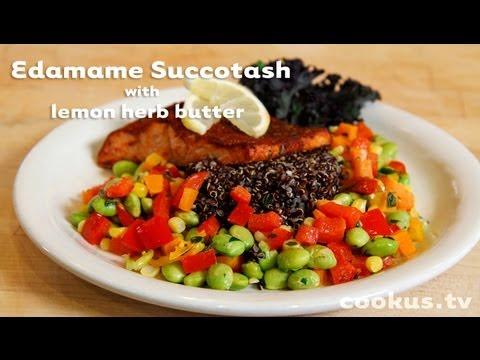 How to make Edamame Succotash with lemon herb butter