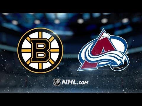 Boston Bruins Vs. Colorado Avalanche   NHL Game Recap   October 11, 2017   HD