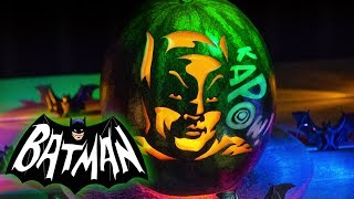 Adam West Batman Pumpkin Pattern by ZombiePumpkins.com