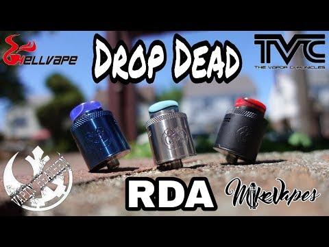 Drop Dead RDA By Heathen, TVC, & HellVape - Build & Wick - Mike Vapes