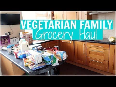 VEGETARIAN FAMILY GROCERY HAUL / FOOD SHOP | Alex Gladwin