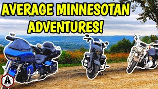 Great Motorcycle Roads South East Minnesota Fall Ride | HARLEY DAVIDSON ROAD GLIDE