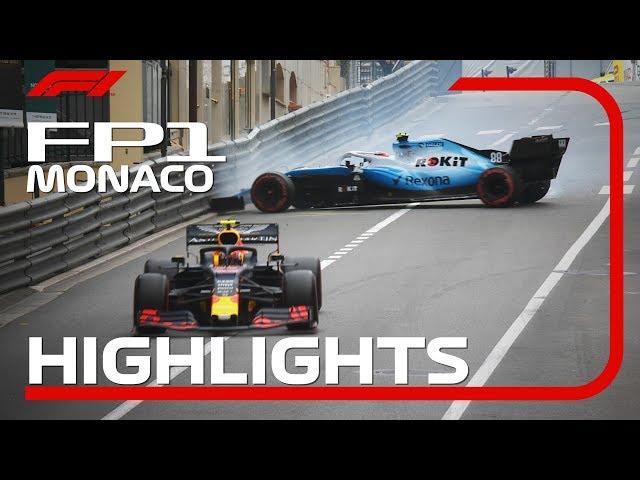 2019 Monaco Grand Prix: FP1 Highlights