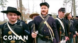 Conan Becomes A Civil War Reenactor  CONAN on TBS