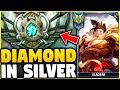 I TOOK MY GAREN INTO SILVER! DIAMOND GAREN ONE-TRICK VS SILVER ELO! - League of Legends