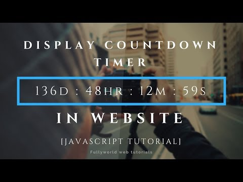 How To Display Countdown Timer In Website   JavaScript Tutorial thumbnail