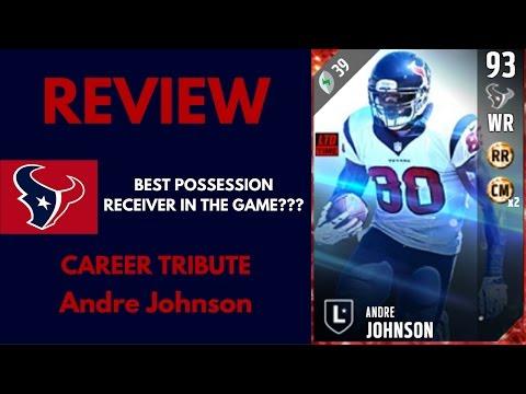 CAREER TRIBUTE ANDRE JOHNSON REVIEW - MADDEN ULTIMATE TEAM 17