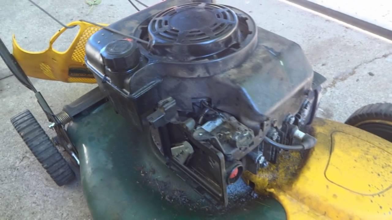 Lawn Mower Rpm Adjustment Briggs And Stratton Engine