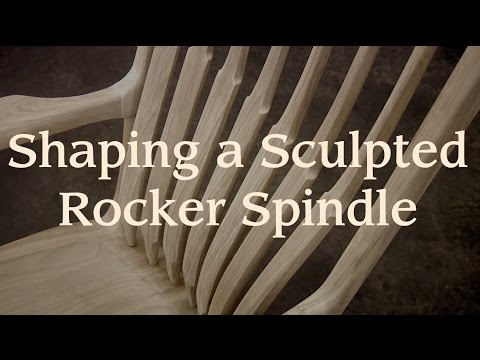Shaping a Maloof-Inspired Rocker Spindle