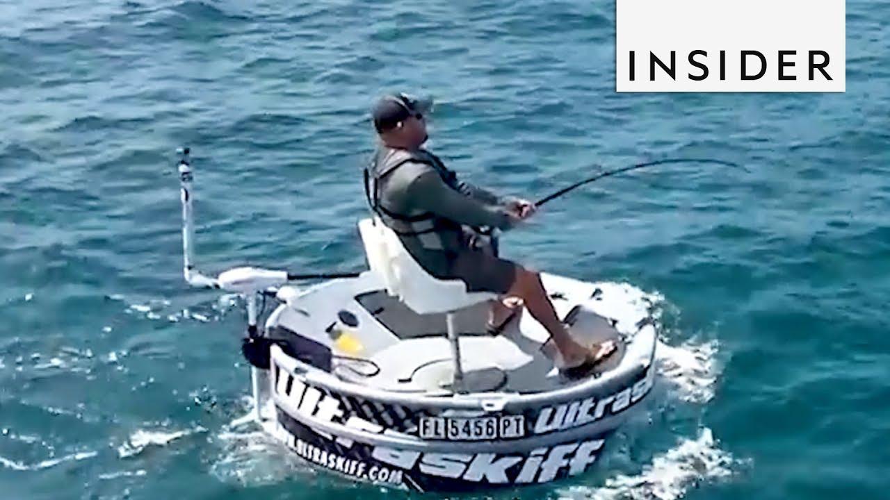Round fishing boat youtube for Circle fishing boat