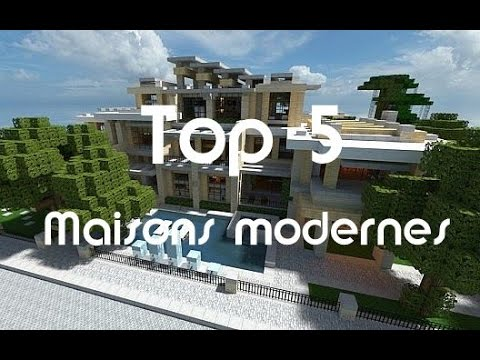 minecraft top 5 des plus belles maisons modernes 2 youtube. Black Bedroom Furniture Sets. Home Design Ideas