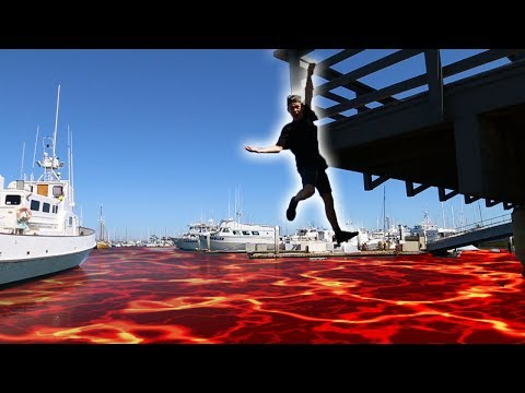 INTENSE FLOOR IS LAVA CHALLENGE IN PUBLIC!