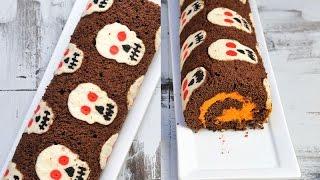 Skull Cake Roll For Halloween, Haniela's