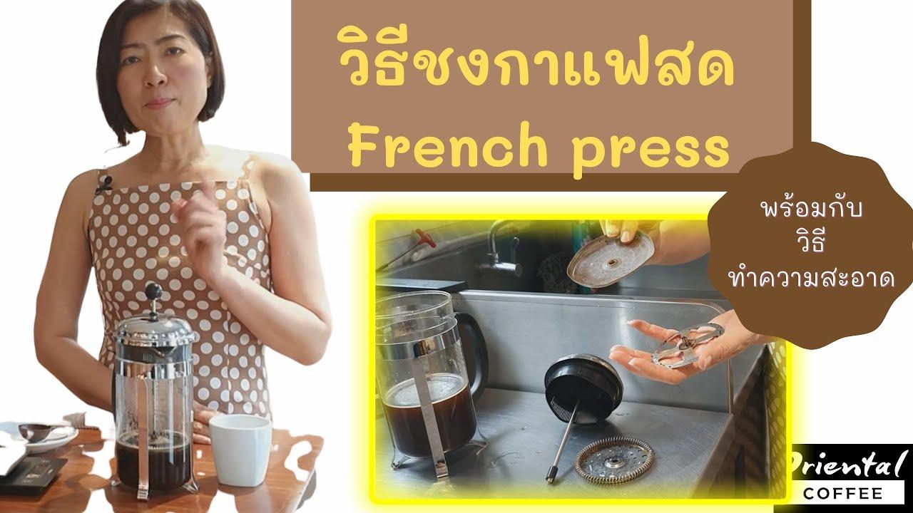 วิธีชงกาแฟด้วย French Press (กาแช่ชา/กาแฟ) + วิธีทำความสะอาด ครบจบในคลิปเดียว