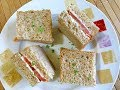 Salmon and Cream Cheese Tea Sandwiches : สูตรแซนด์วิชแซลมอนครีมชีส