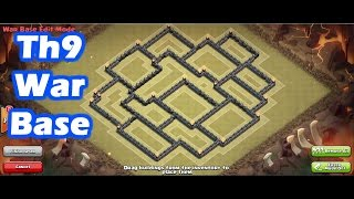 Clash Of Clans - Town Hall 9 (th9) Best War Base With 2 Air Sweepers [Anti 3 star] + 4 REPLAYS