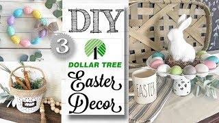 DIY Dollar Tree Easter Decor | 3 PROJECTS!