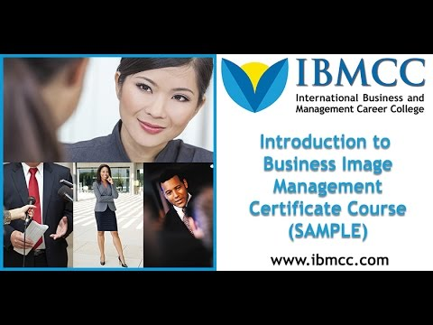 business image management certificate course online for