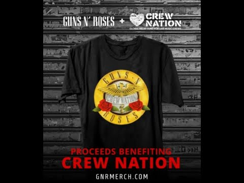 GUNS N' ROSES released limited-edition collector t-shirt with all proceeds to Crew Nation!