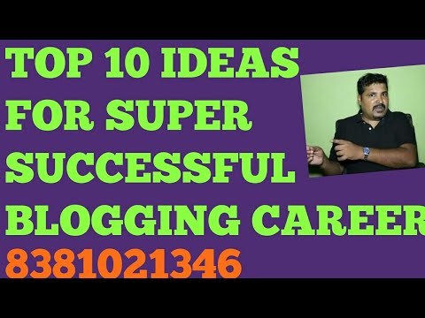 Start your own blog - TOP 10 IDEAS for super successful blogging career