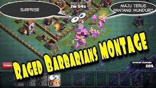 Raged Barbarian Montage #1 - Clash Of Clans Indonesia