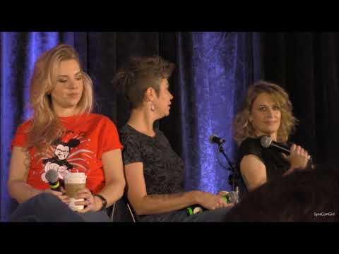OrlCon Kim Rhodes Briana Buckmaster and Samantha Smith Panel 2018 Supernatural