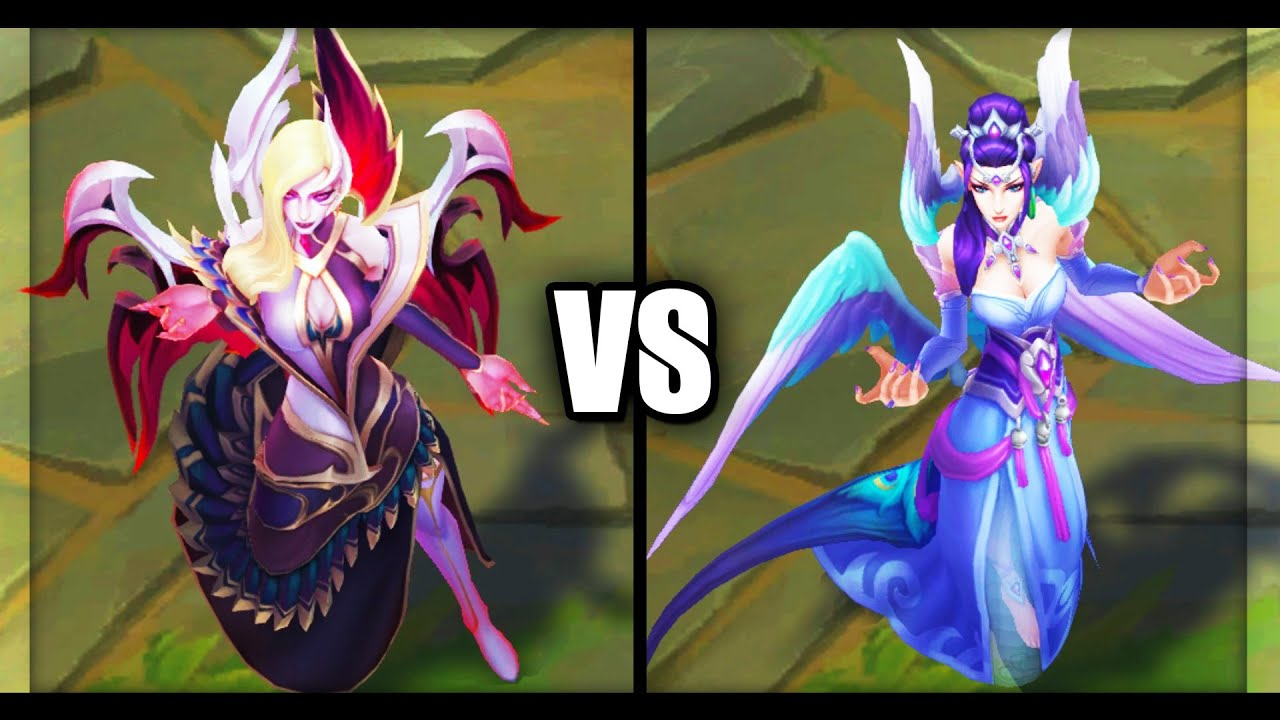 Coven Morgana vs Majestic Empress Morgana Legendary vs Epic Skins Comparison (League of Legends)