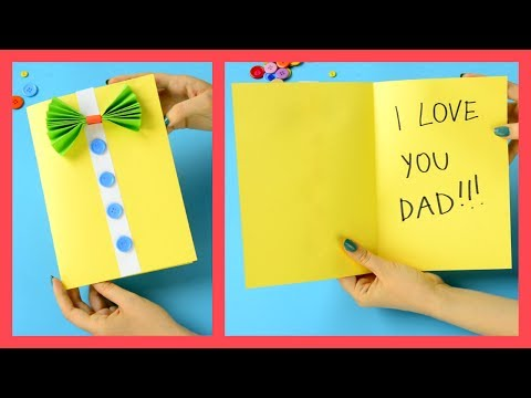 Father's Day Card - fun crafts for kids