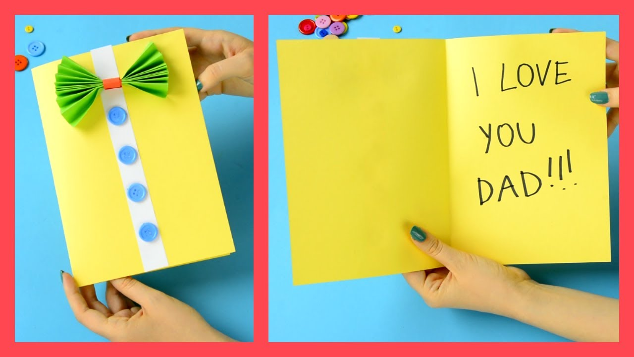 Father S Day Card Fun Crafts For Kids Youtube