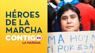 Los HÉROES anónimos de la MARCHA más grande de CHILE - Contigo en La Mañana