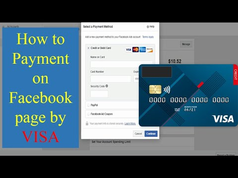 Payment For Facebook Page By Visa Card