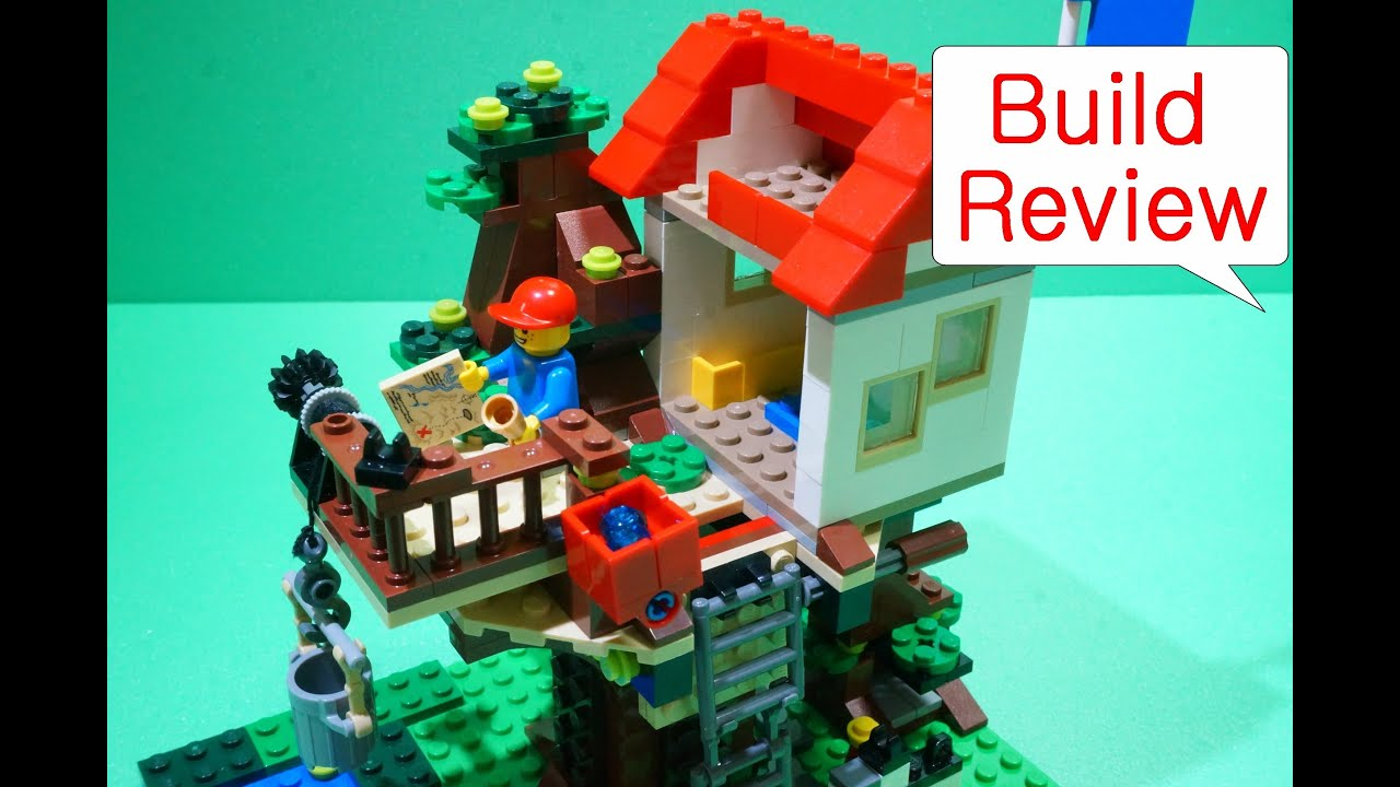Treehouse House Lego Creator 레고 31010 Treehouse Build Review Youtube