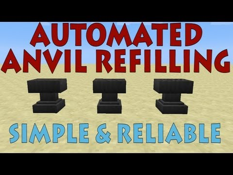 Anvil Refilling In Minecraft 1.5 - Simple & Reliable [Tutorial]