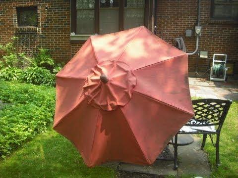 Faded Outdoor Patio Umbrella Makeover