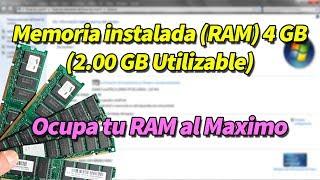 Memoria Instalada (RAM) 4 GB (2.00 GB Utilizable) Windows 10   8.1   7   Vista