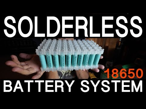 Solderless 18650 Battery System by Vruzend.com