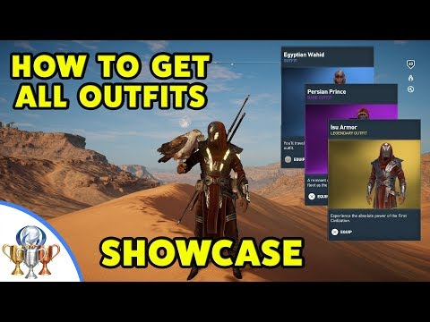 Assassin's Creed Origins - All Outfits - Showcase and how to get them