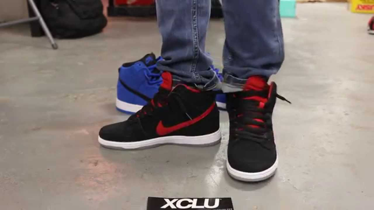 timeless design 5adf9 c6c83 Nike SB Dunk Pro High - Gym Red - On-feet Video at Exclucity