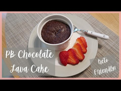peanut-butter-chocolate-lava-cake-for-two-|-keto-friendly