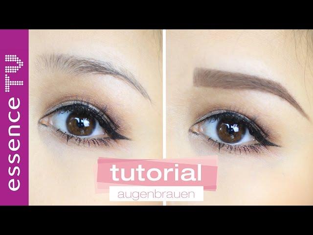 Augenbrauen zupfen bevor Schminken Anleitung für perfekte Augenbrauen