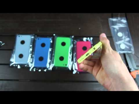 New iPhone 5C Unboxing  5 Lower Cost iPhone Color Rear Shells