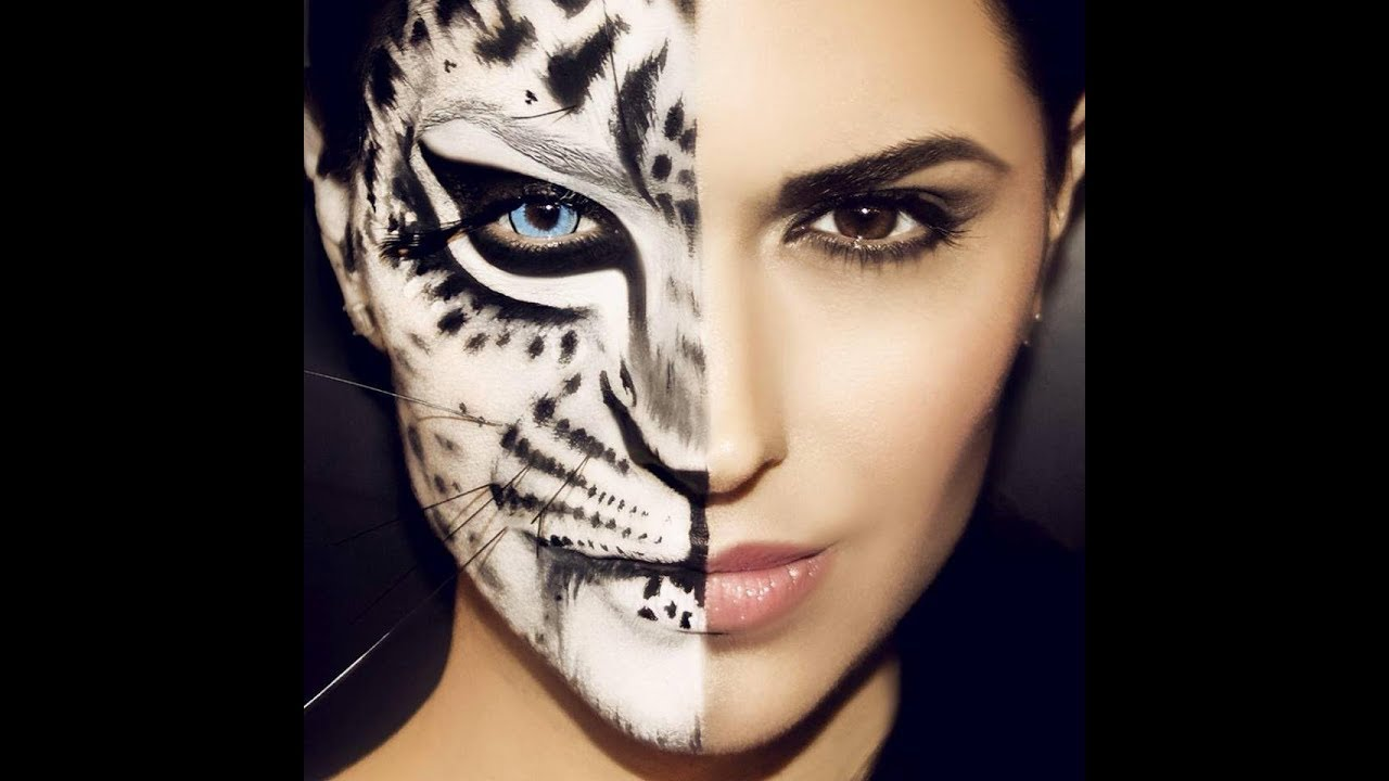 Cat Animal Makeup Tutorial - YouTube