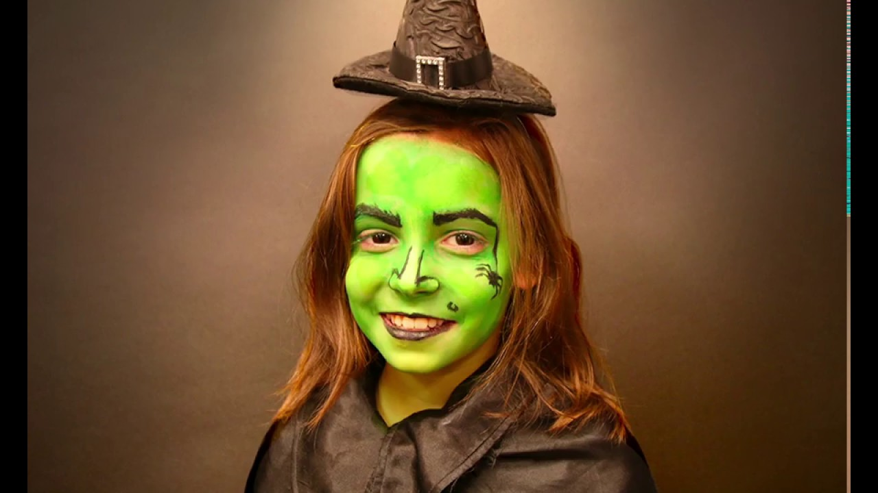Maquillage Halloween Sorcière enfant