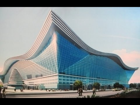 The largest building in the world: New Century Global Center in Chengdu, China